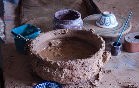 Pottery work area