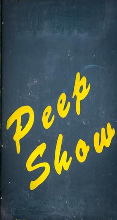 porno: peep show segno Archivio Fotografico