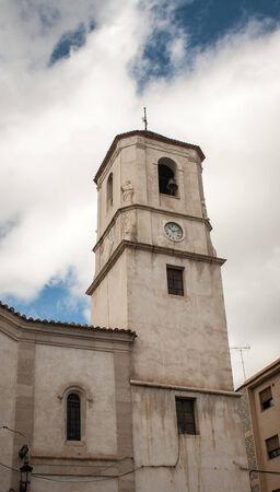 Kerk in Witte Dorp Stockfoto