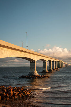 confederation: confederation bridge Stock Photo