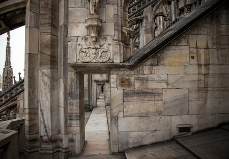 passageway: milan cathedral passageway Stock Photo