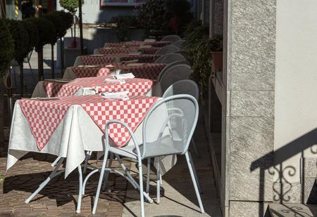 checker plate: checked tablecloth Stock Photo