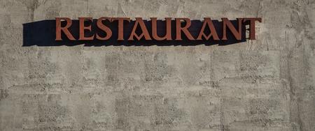 restaurant sign Banco de Imagens