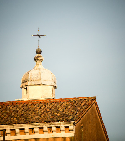 dome: church dome and cross