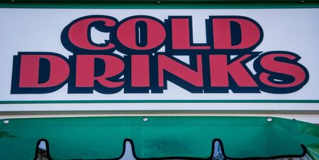 cold drinks: cold drinks sign