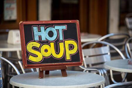 hot soup sign
