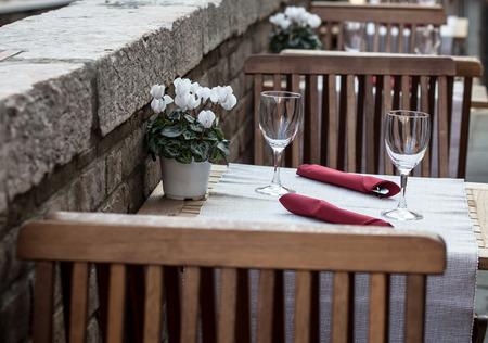 venice cafe Stock Photo