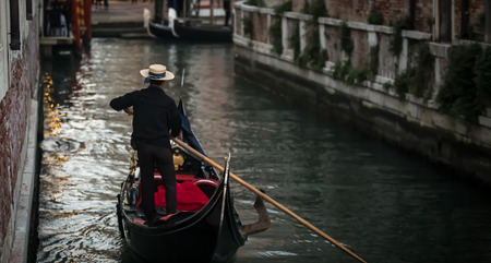 gondolier: gondolier on the canal