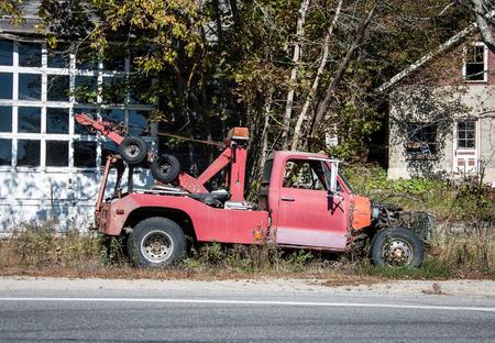 rundown: rundown tow truck Stock Photo