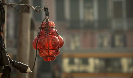 lampekap: ruby colored lampshade