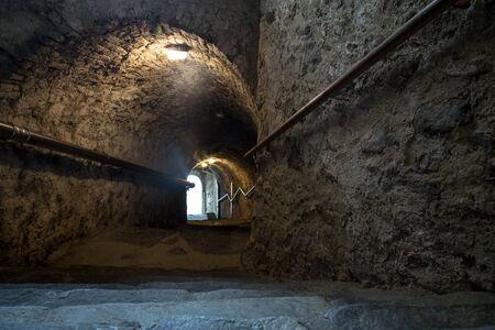dark: dark tunnel Stock Photo