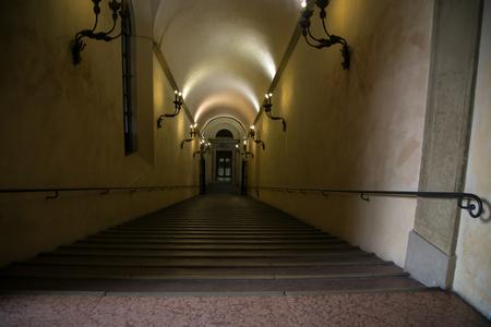 long: long corridor Stock Photo