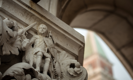 st: st marks venice statue