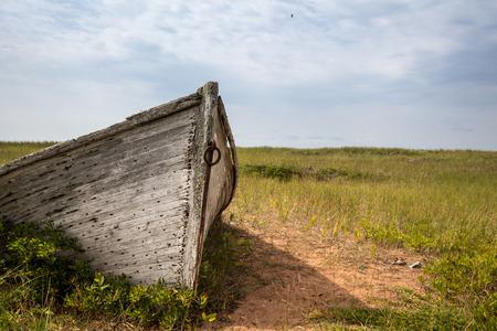 古い木製ボート 写真素材
