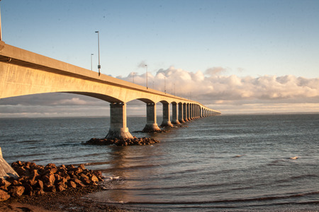 confederation: confederation bridge Stock Photo