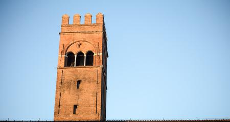 bologna: leaning tower bologna Stock Photo