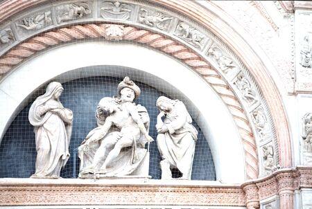 bologna: religious statue bologna