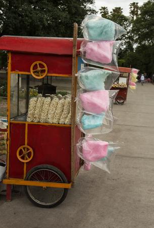 algodon de azucar: algod�n de az�car Foto de archivo