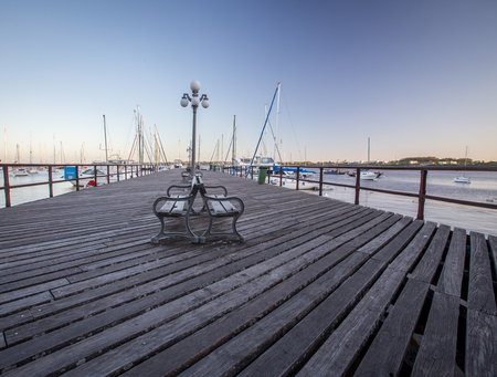 bench at pier