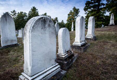 maine: graveyard maine Stock Photo