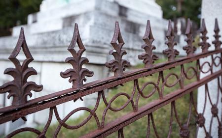 spike: rusted spike fence