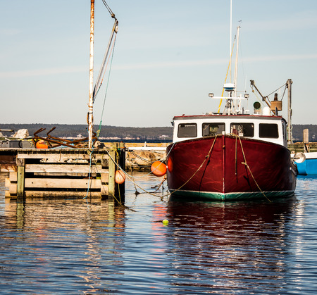 lobster boat: lobster fishing boat Stock Photo