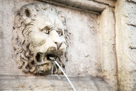 in the mouth: lion fountain bologna
