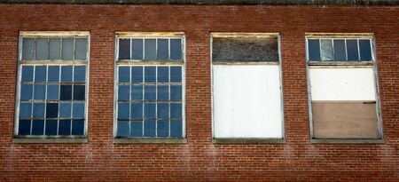 abandoned warehouse: warehouse windows