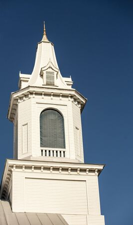 church steeple: white church steeple Stock Photo