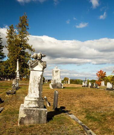 graveyard maine Фото со стока