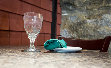 napkin: glass and napkin Stock Photo