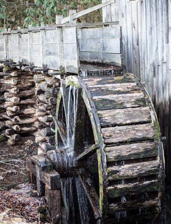 waterwheel: wooden waterwheel Stock Photo
