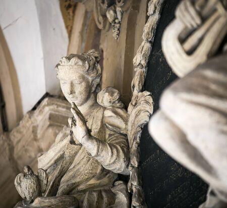 bologna: female statue bologna Stock Photo