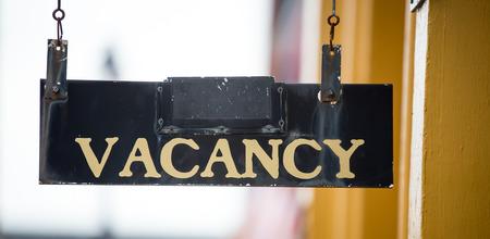 vacancy: vacancy sign Stock Photo