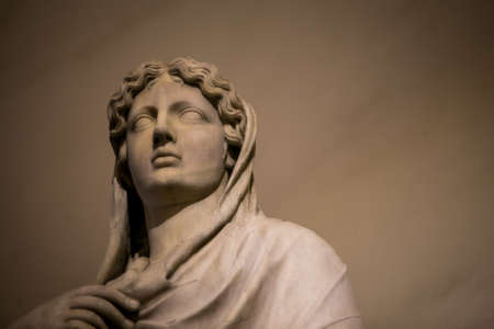 florence: virgin mary statue florence Stock Photo