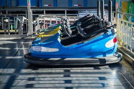 青バンパー車