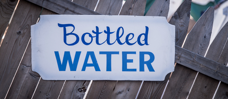 bottled water sign Banco de Imagens