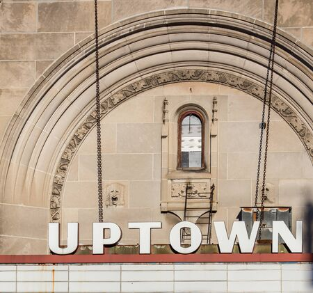 uptown: abandoned uptown theatre Stock Photo