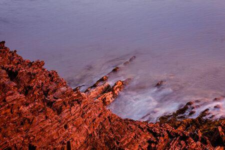切り立った崖のノバスコシア州 写真素材