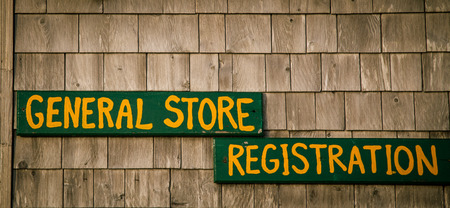 general store: general store sign