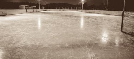 outdoor skating rink Stock Photo