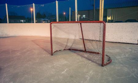 net: hockey net Stock Photo