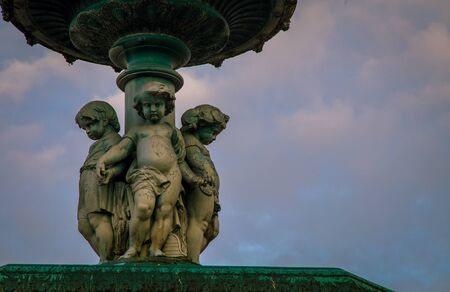 cherub: cherub statue lisbon Stock Photo