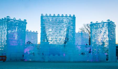 Castello di ghiaccio Archivio Fotografico - 53999315