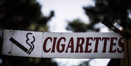 cigarettes sign