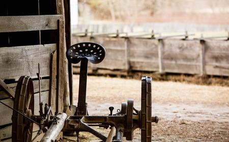 machinery: antique farm machinery