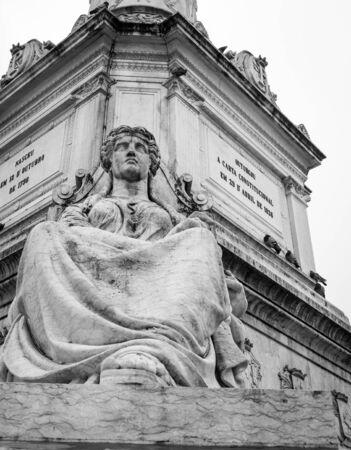 Rossio Square statue Lisbon