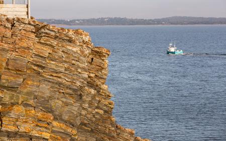 nova scotia: rocky coastline of nova scotia Stock Photo