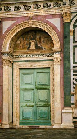 santa maria: Door of Santa Maria Novella Stock Photo
