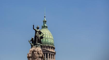 aires: statue congresso nacional buenos aires